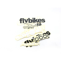 Fly Bikes BMX Stickers - Assorted Sticker Pack - Black / White