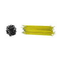 Shadow Conspiracy BMX Spokes - 50x Straight Spokes  - 186mm - Yellow