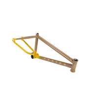 United BMX Frame - Region - 2017 - Gloss Yellow/Brown - Various Sizes