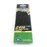 "KMC Z410 Single Speed BMX Bike Chain 1/2 x 1/8"" - Black 112 Links"