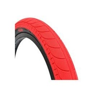 "Stranger Ballast 20"" x 2.45"" BMX Tyre - Red / Black Wall Bike Tire"