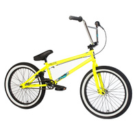 "Forgotten Bikes Enigma 20.65"" TT BMX Bike Gloss Neon Yellow w White Wall Tyres"