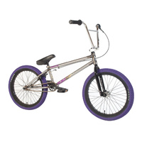 "Forgotten Bikes Hoax 20.65"" TT Complete BMX Bike Gloss Raw w Purple Tyres - 2018"