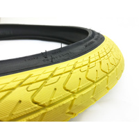 "Innova BMX Tyre w Fitted Tube 20"" x 2.25 Yellow with Black Sidewall - BMX Tire"