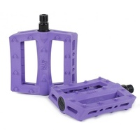 "Rant Shred 9/16"" Plastic BMX Pedals - Bike Pedal - 90's Purple"