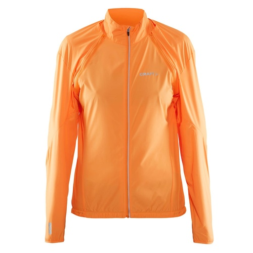 Craft Womens X Over Convert Cycling Jacket - Sprint Orange Bike Jacket