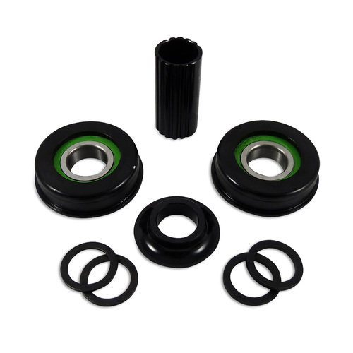 Defiant Bottom Bracket American Type Sealed 10 Piece Set BMX BB 19mm - Black
