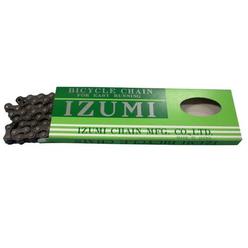 "IZUMI Bike Chain (1/2 x 1/8"" 96L) Black BMX Bike Chain - Single Speed"
