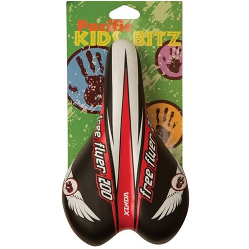 Classic Kids Bike Seat- Free Flyer 200 - Black/Red/White